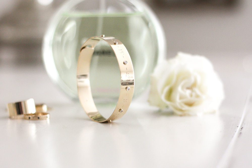 coordinates bangle bracelet by kerry gilligan in 14k yellow gold with diamonds.jpg