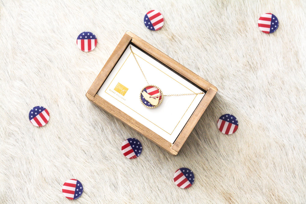 Nantucket+Interchangeable+Necklace+by+Kerry+Gilligan+with+4th+of+July+American+Flag+Insert-1.jpg