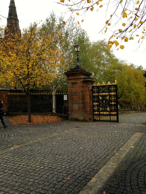 The gate to the bridge entrance