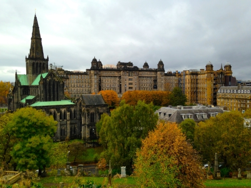 Views of the cathedral and hospital from the climb