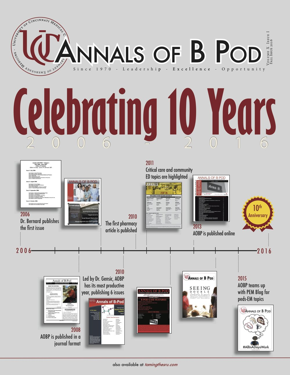 Click here for the September Issue of Annals of B-Pod