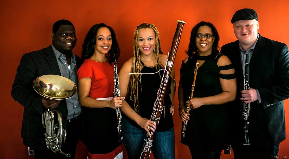 From left: Jeff Scott, Toyin Spellman-Diaz, Monica Ellis, Valerie Coleman, Mark Dover