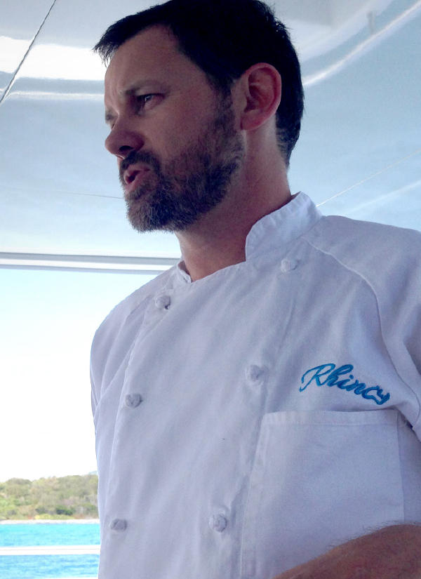 Chef Brent presents each meal while on charter