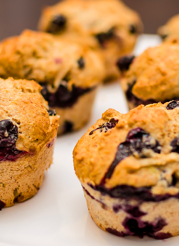 Blueberry muffins are perfect for breakfast, but also a yummy treat anytime of day.