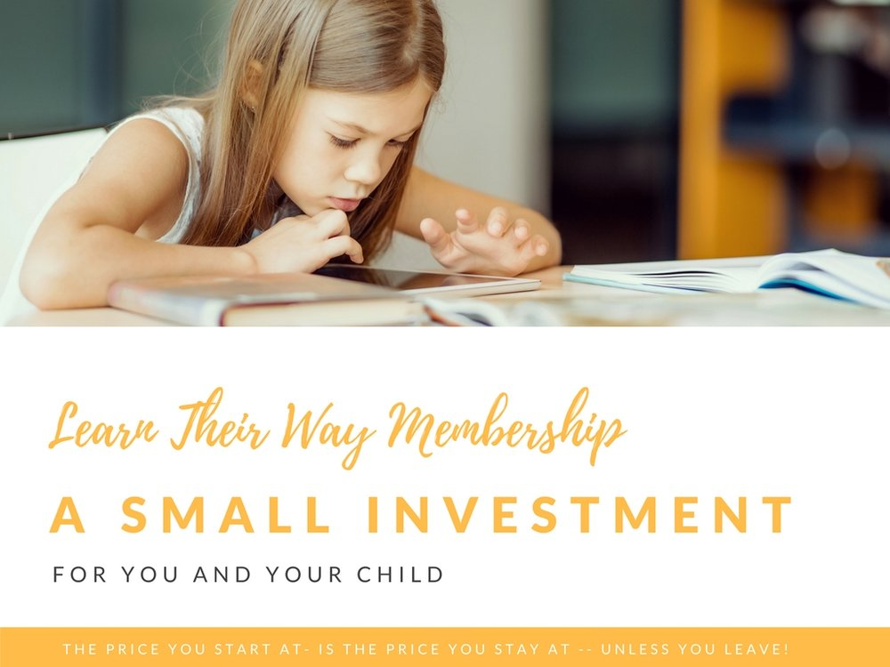 A small investment for support with Learn Their Way Membership