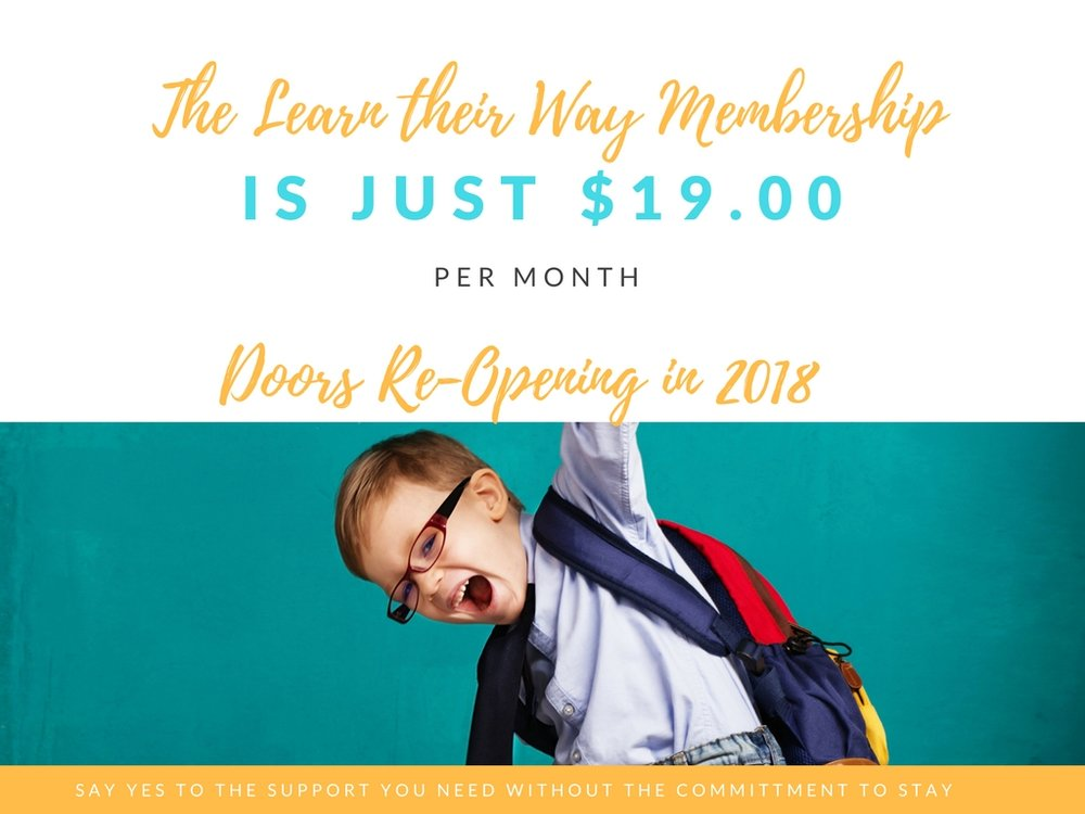 Learn Their Way Membership reopening in 2018