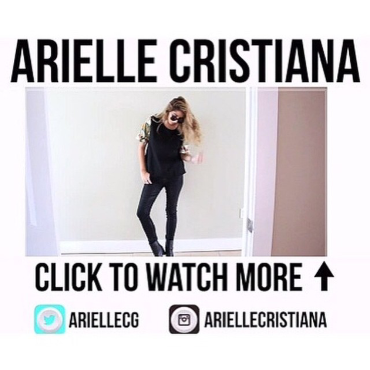 "ARIELLE CRISTIANA ON YOUTUBE ""WEEKEND LOOK BOOK #1 FALL '14"" NOVEMBER 2014"