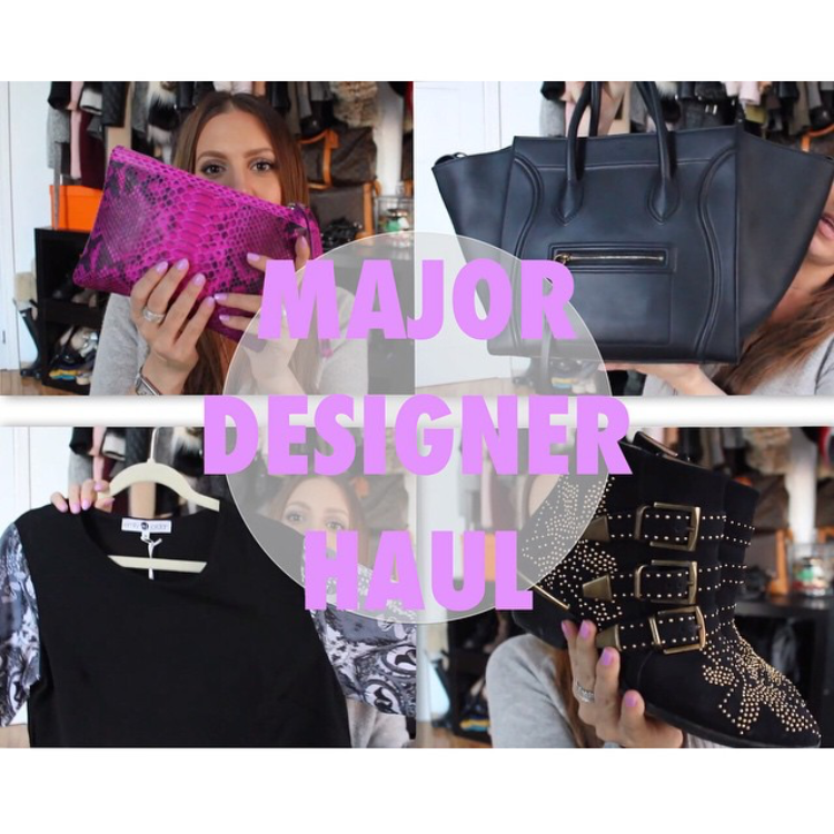 "MELSOLDERA ON YOUTUBE ""MAJOR DESIGNER HAUL"" FEBRUARY 2015"
