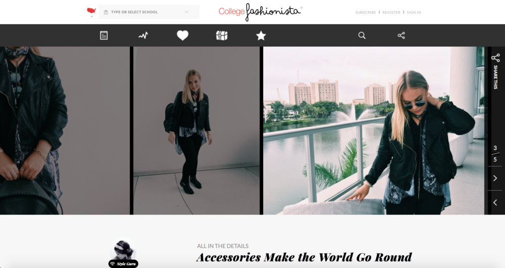 """ACCESSORIES MAKE THE WORLD GO ROUND"" BY MONTANNA MUNGAL  WWW.COLLEGEFASHIONISTA.COM JANUARY 2016"