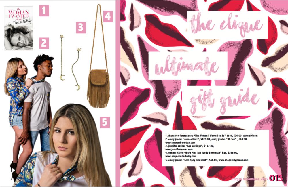 Clique Magazine By: Emily Jordan Gerstein   November 2015