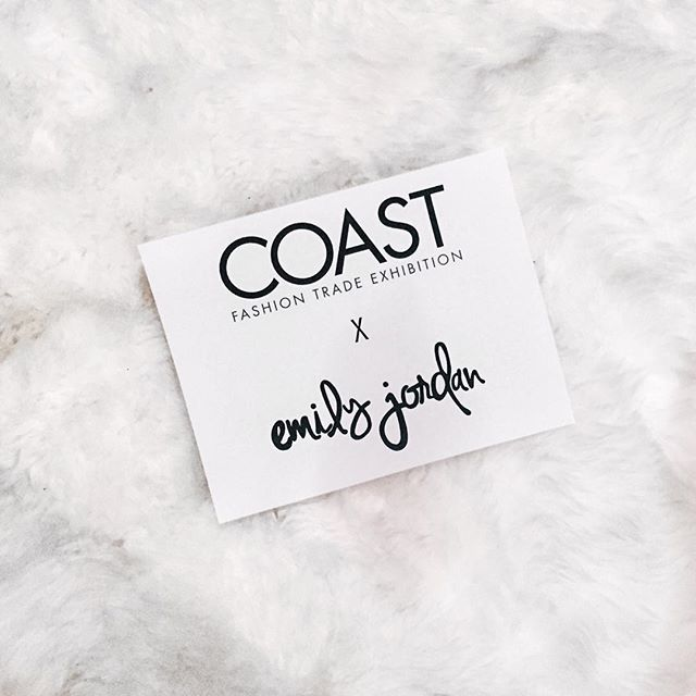 It's Official ✨ Come say hey to us at COAST MIAMI October 27+28!! Email info@shopemilyjordan.com to book an appointment if you'll be at the show // can't wait to share what spring/summer 2017 looks like!