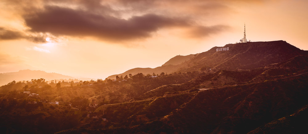 Golden Light over the Hollywood Sign