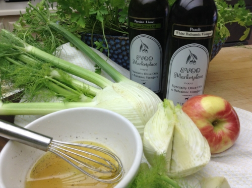 Ingredients for Apple Fennel Salad by Sherrie Robbins