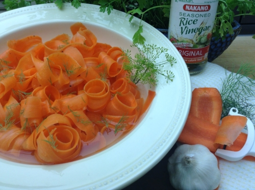 Gorgeous pic of Sherrie's Pickled Carrot Ribbon Salad