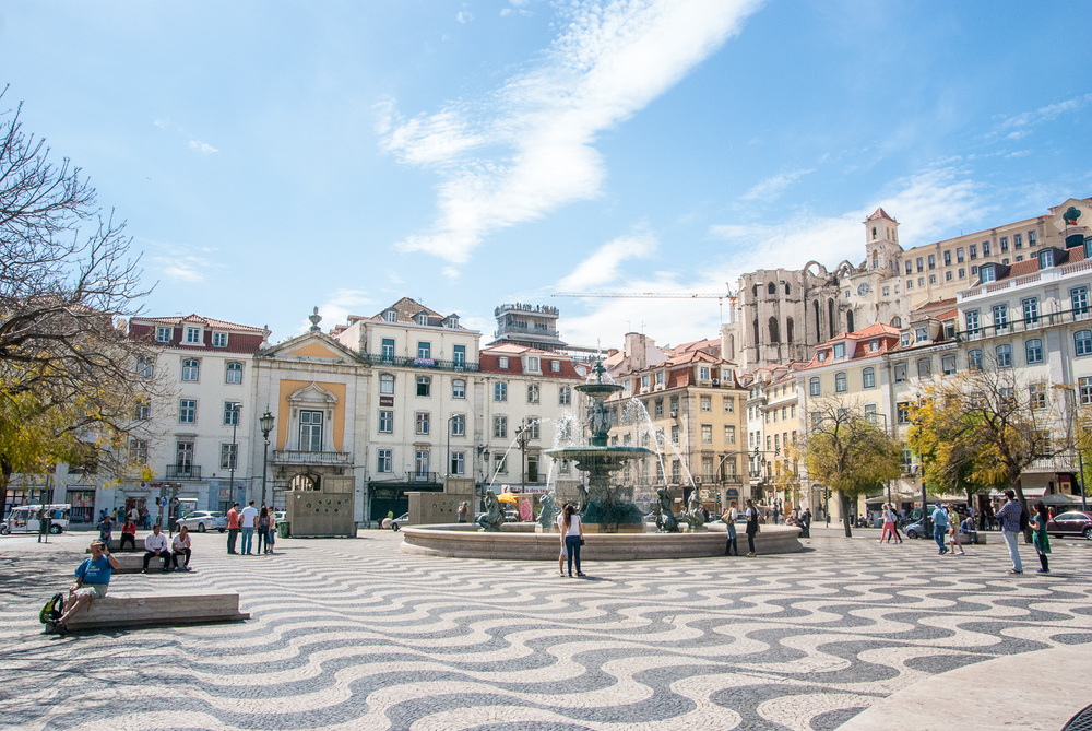 Rossio Square, downtown Lisbon