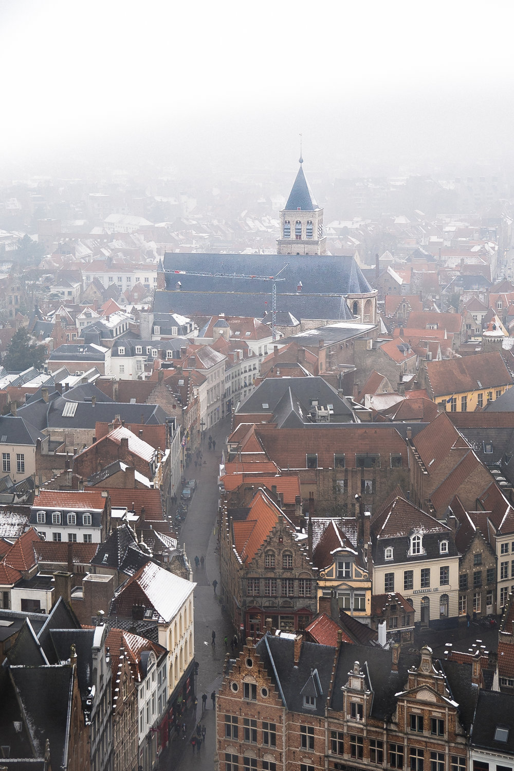 panoramic view from belfry tower