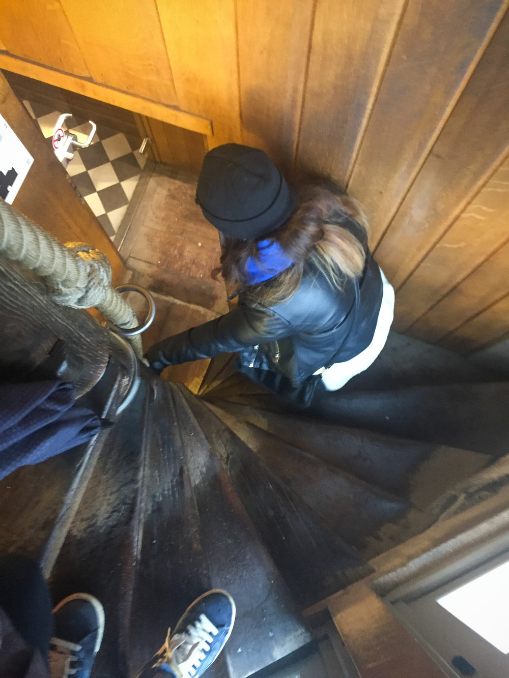 Climbing the 366 steps of the Belfry tower