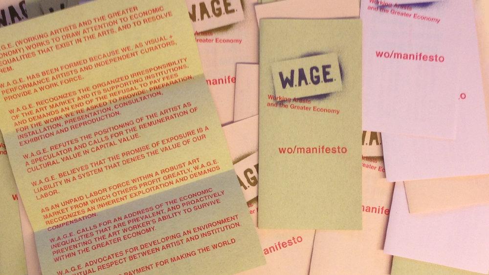 W.A.G.E. wo/manifesto