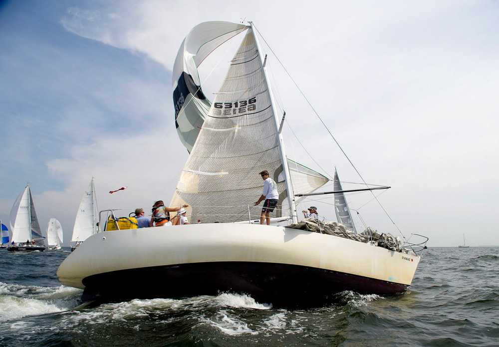 Shining Star from Cos Cob, Conn., competes in the 2013 Vineyard Race, which began from Stamford Yacht Club on Friday, August 30, 2013.