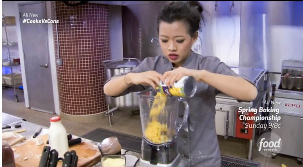 The moment you realize you should've used fresh corn is the moment you pour canned corn into a blender. No. Turning. Back.