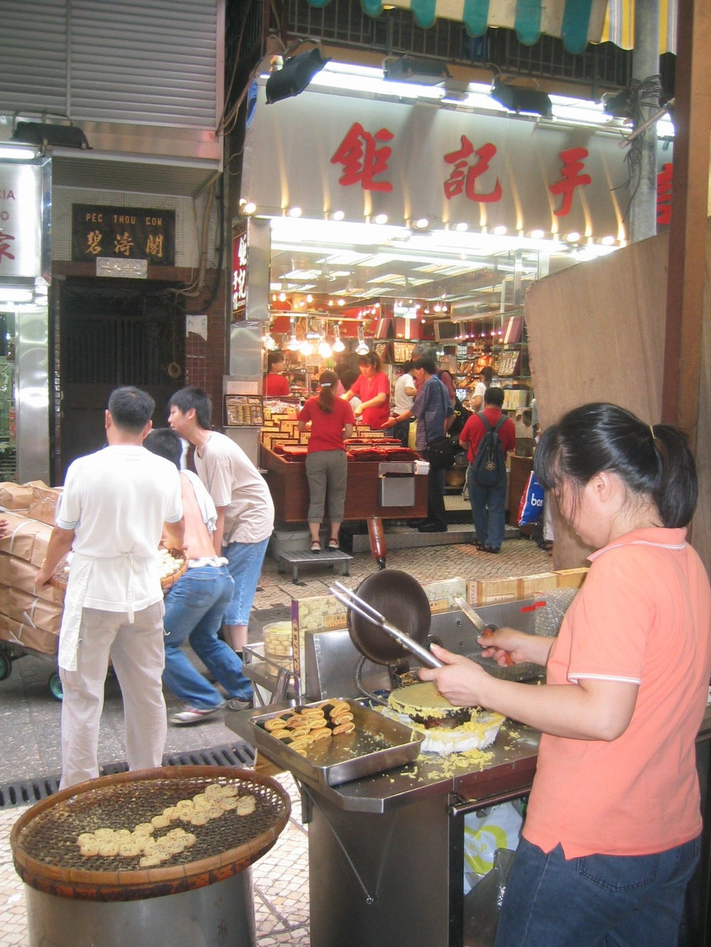 More Macau specialties from my 2006 trip: almond cookies and super-moist beef jerky