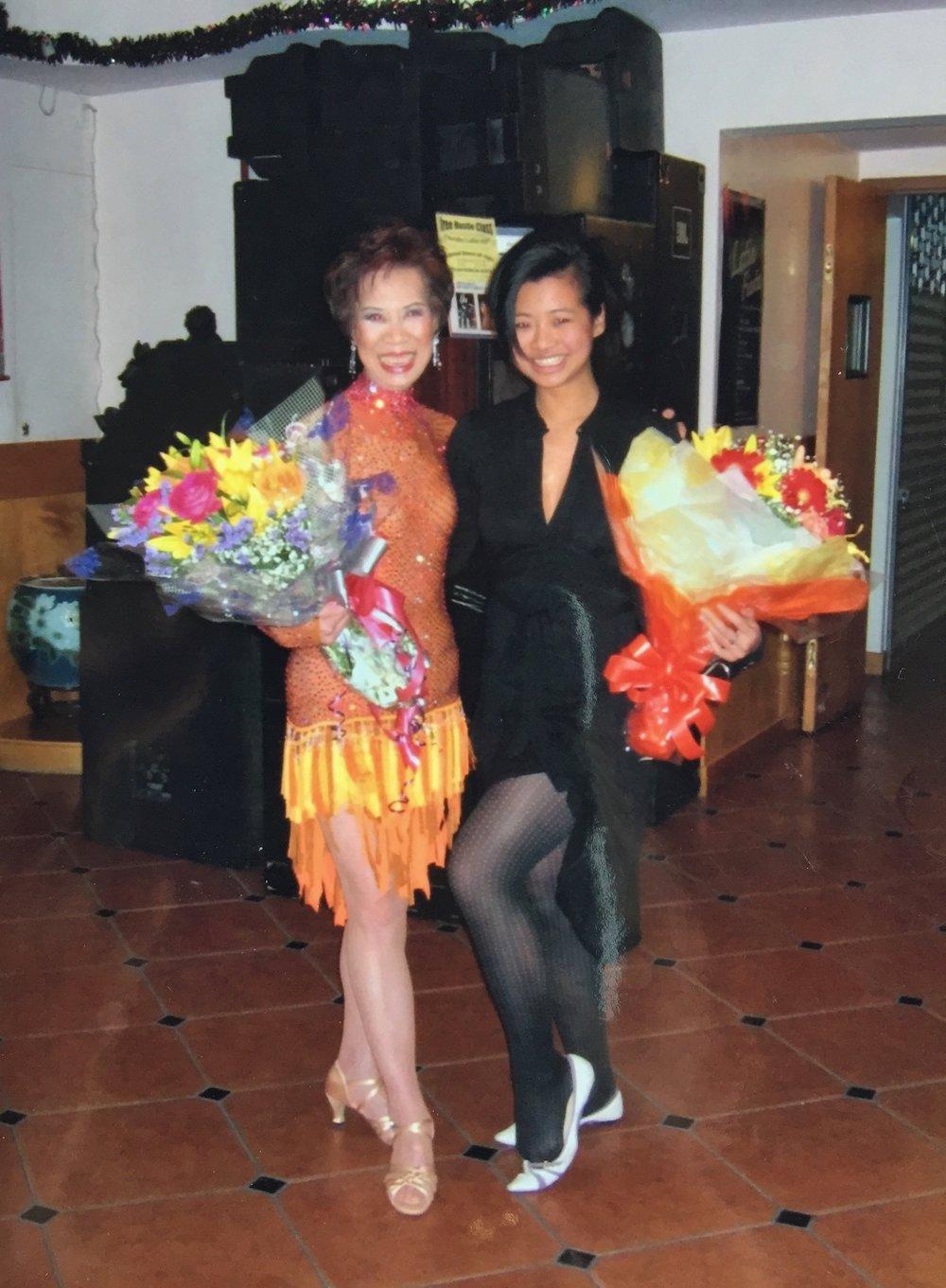 Jess and Grandma - dance recital.JPG