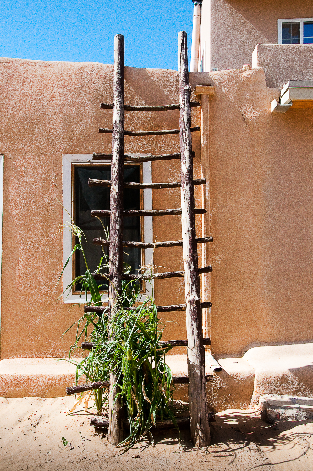 Acoma Ladder with Corn,   Acoma Pueblo, NM