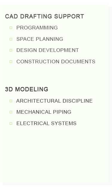 CAD Drafting Support And 3D Modeling