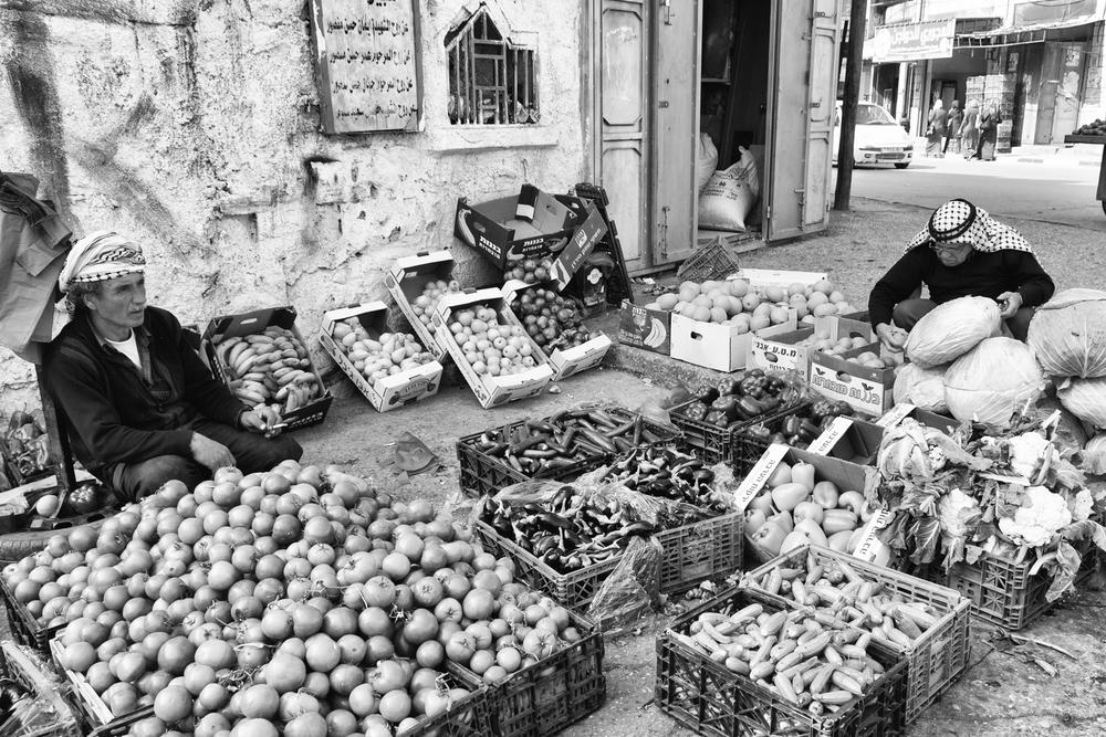 A market in Nablus