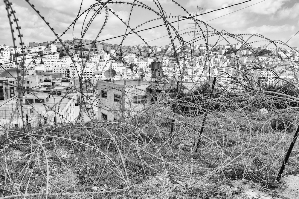 Barbed wire in Hebron