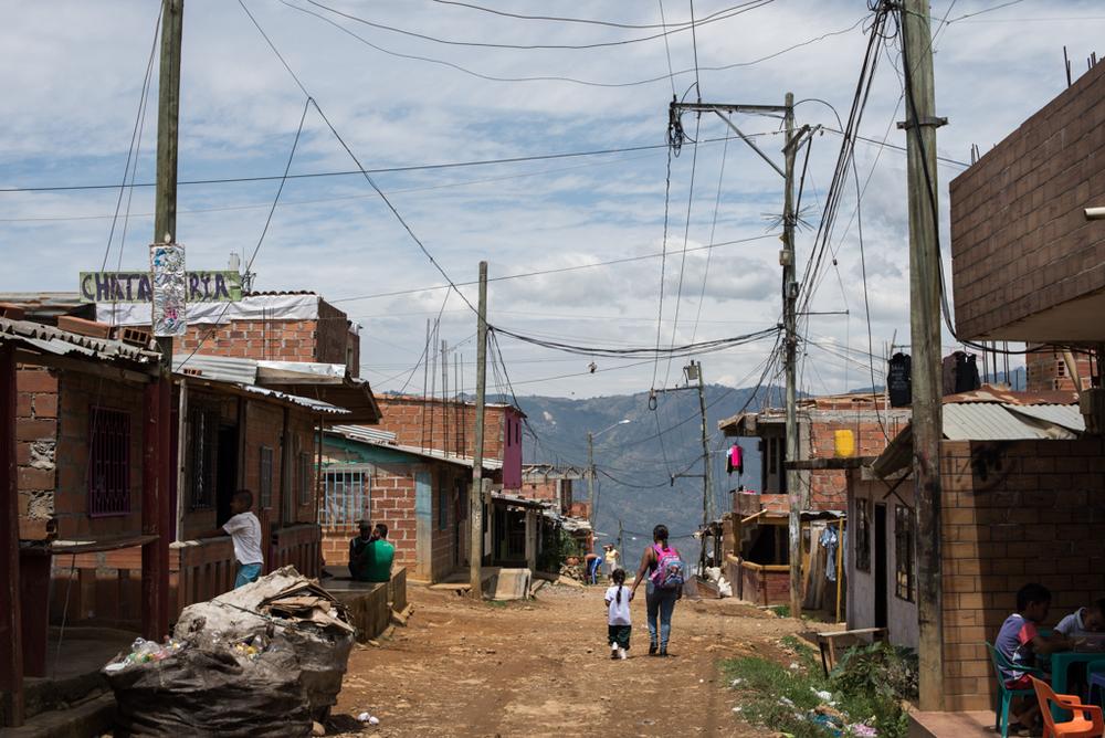 A street in Bello, Antioquia.