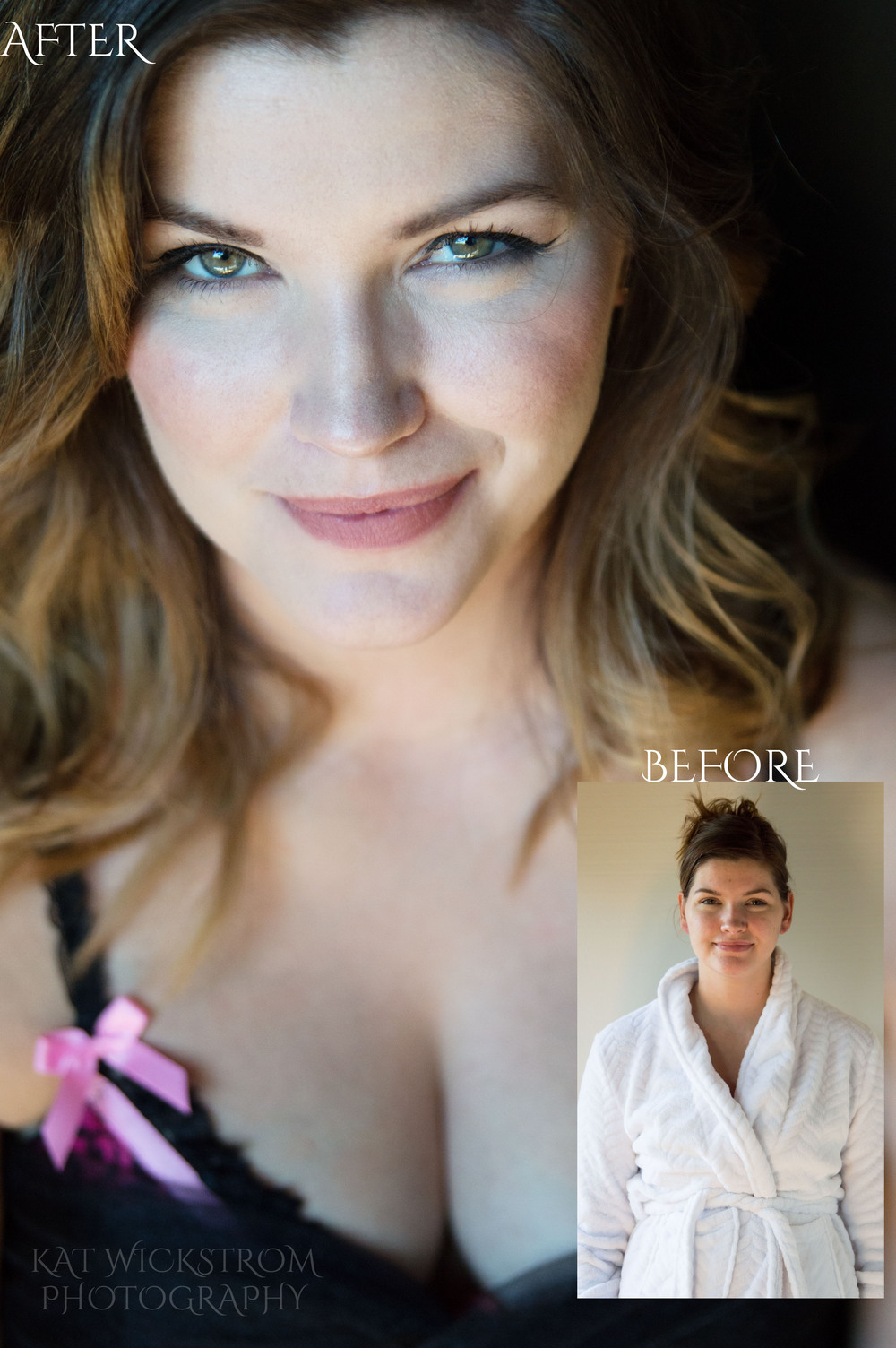 Portrait Glamour Before and After Photography Los Angeles