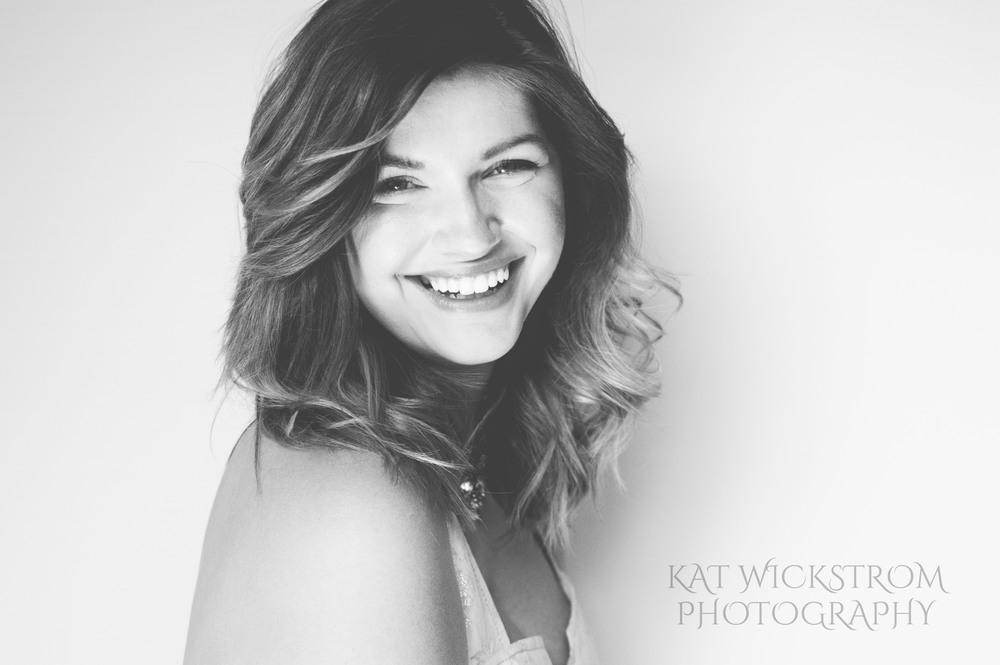 Portrait Glamour Headshot Photography Los Angeles Black and White