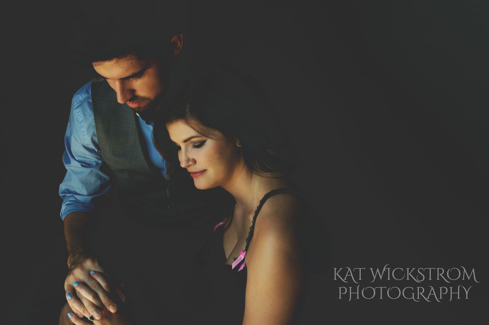 Studio Portrait Glamour Couple Engagement Photography