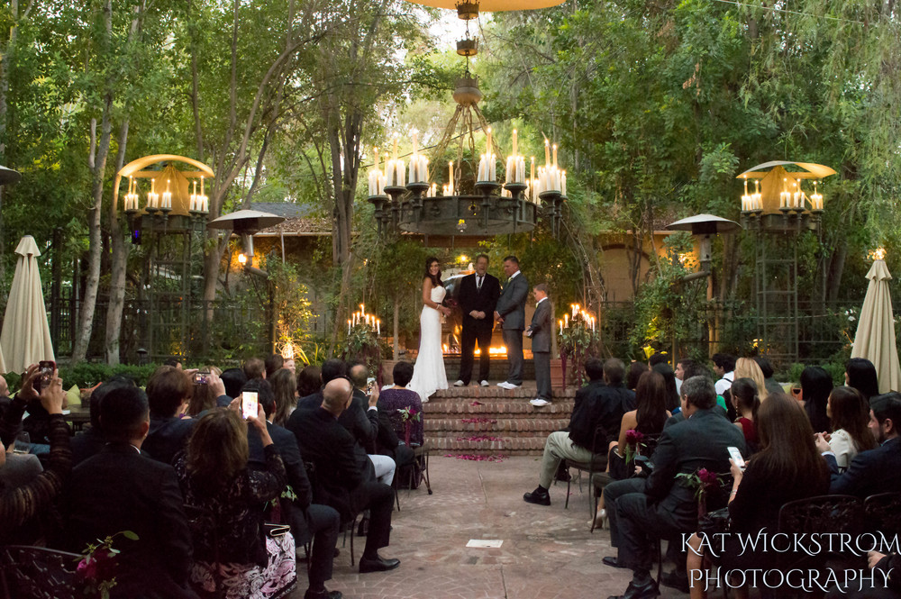 Woodland Hills Villa Restaurant Wedding Ceremony Photograpy