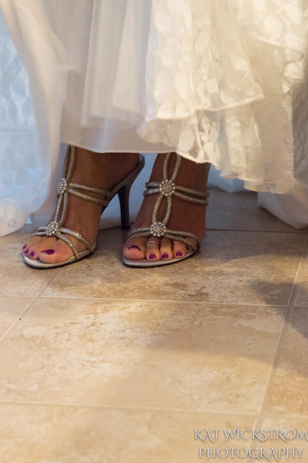 Woodland Hills CA Wedding Shoes Getting Ready Photo