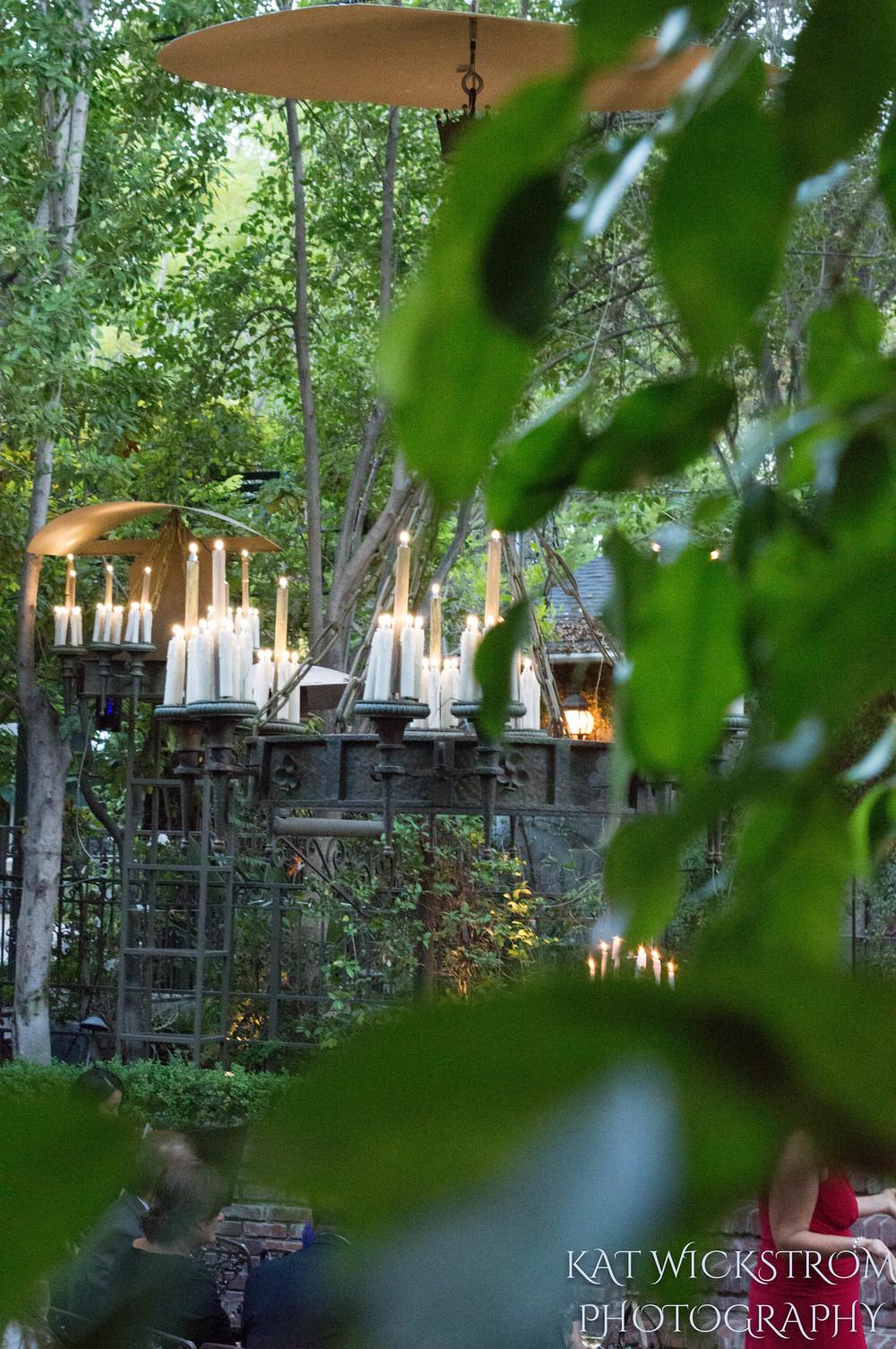 Woodland Hills Villa Restaurant Wedding Ceremony Photo