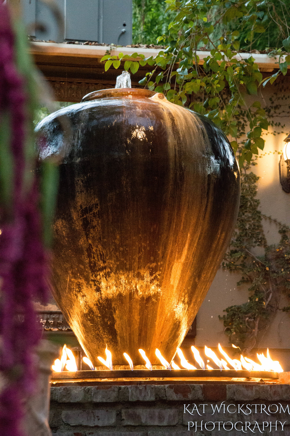 Woodland Hills CA Villa Restaurant Wedding Ceremony Photo