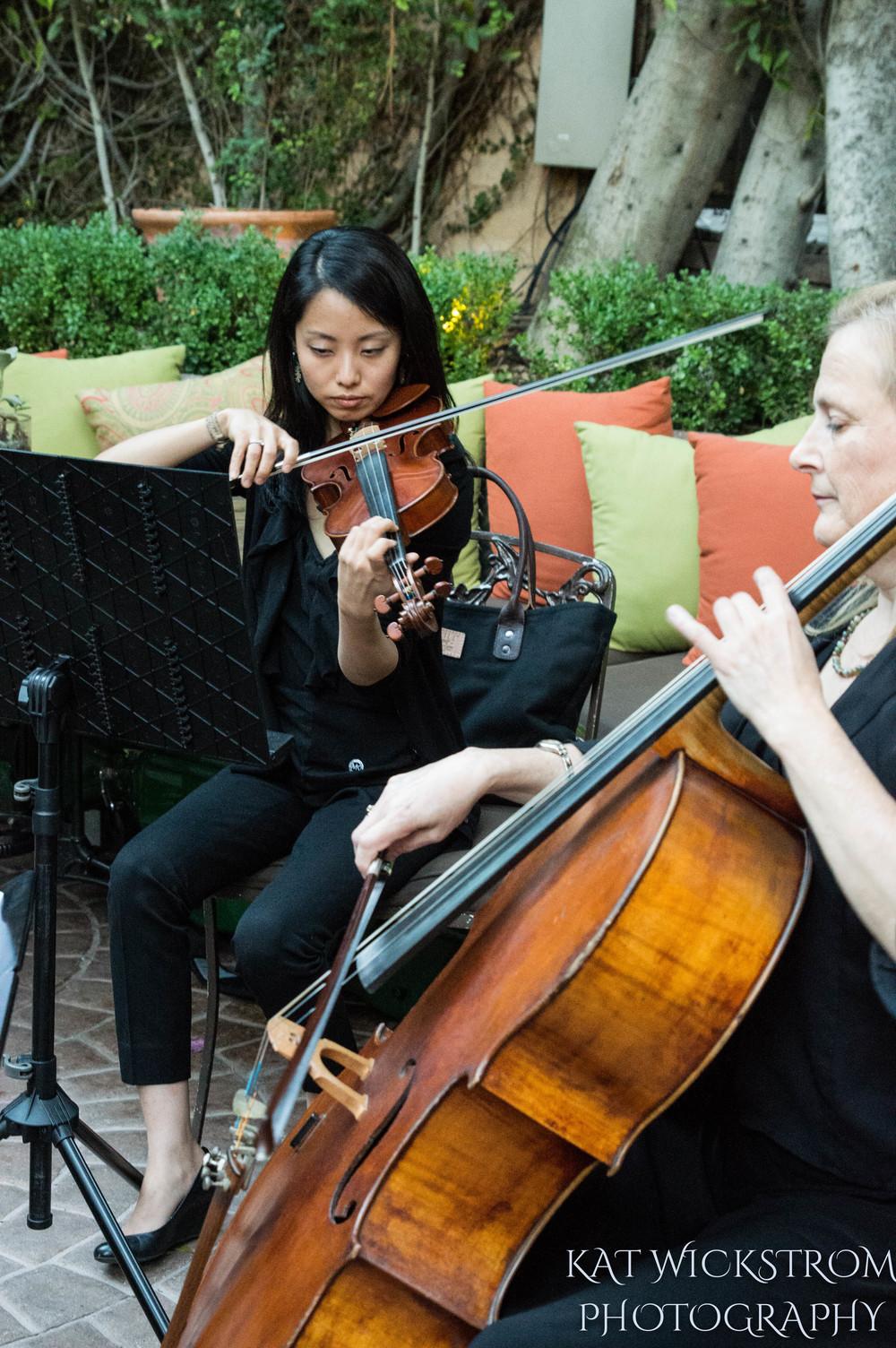 Woodland Hills CA Villa Restaurant Wedding Ceremony Quartet Photo