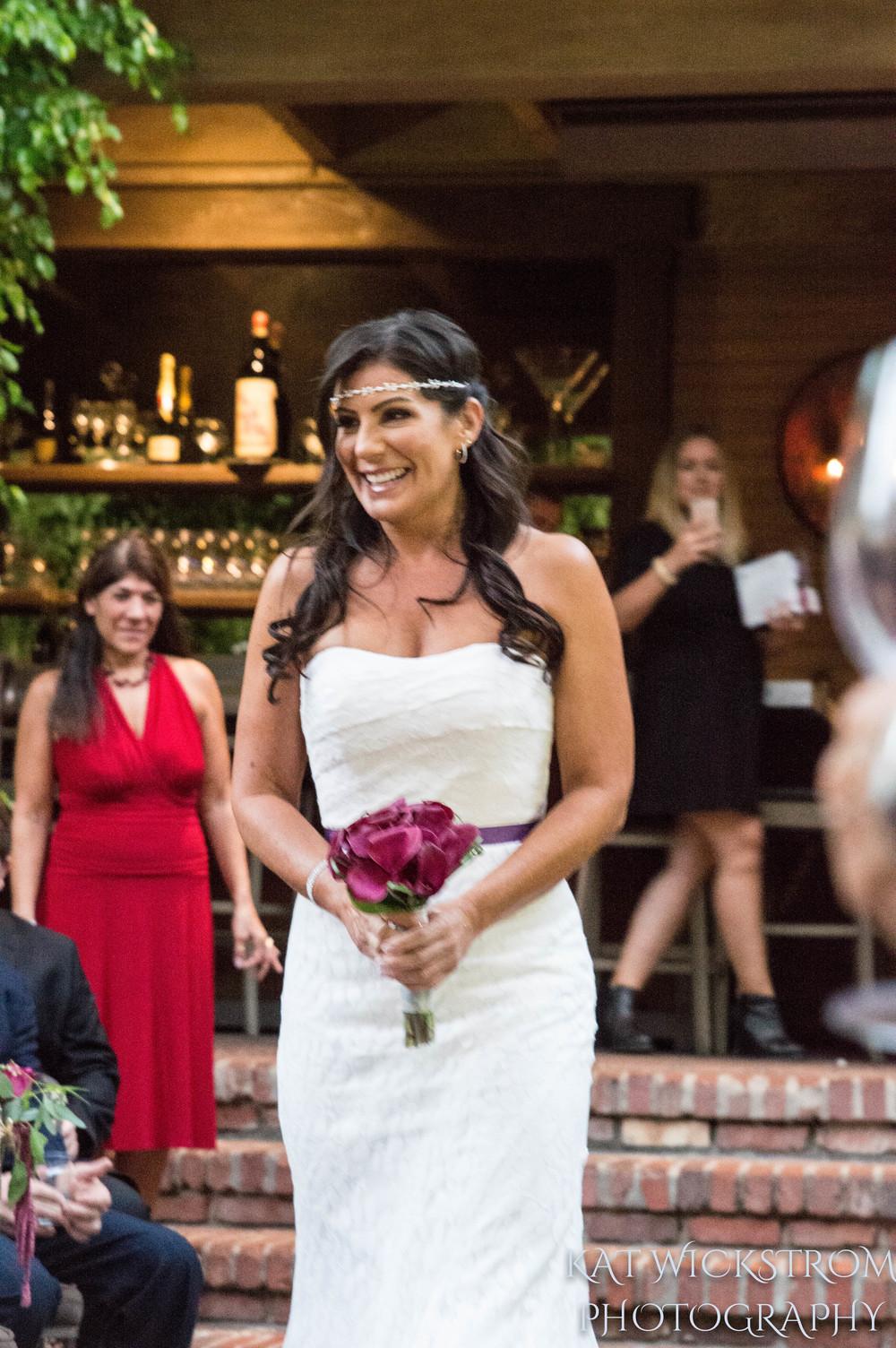 Woodland Hills CA Villa Restaurant Ceremony Wedding Bride