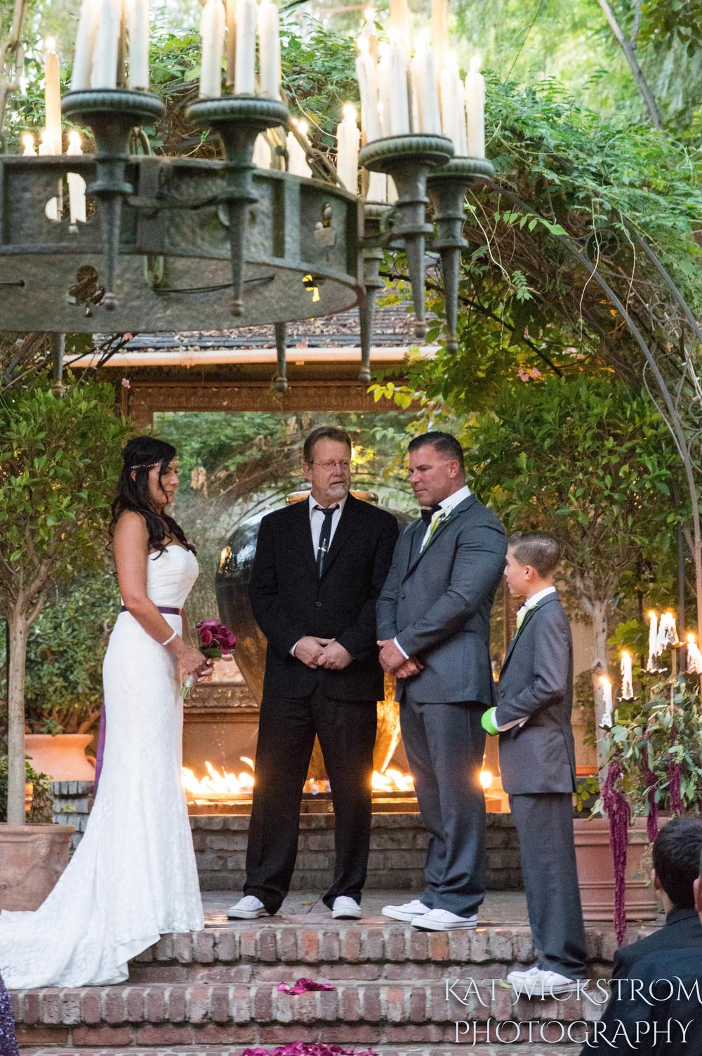 Woodland Hills CA Villa Restaurant Wedding Ceremony