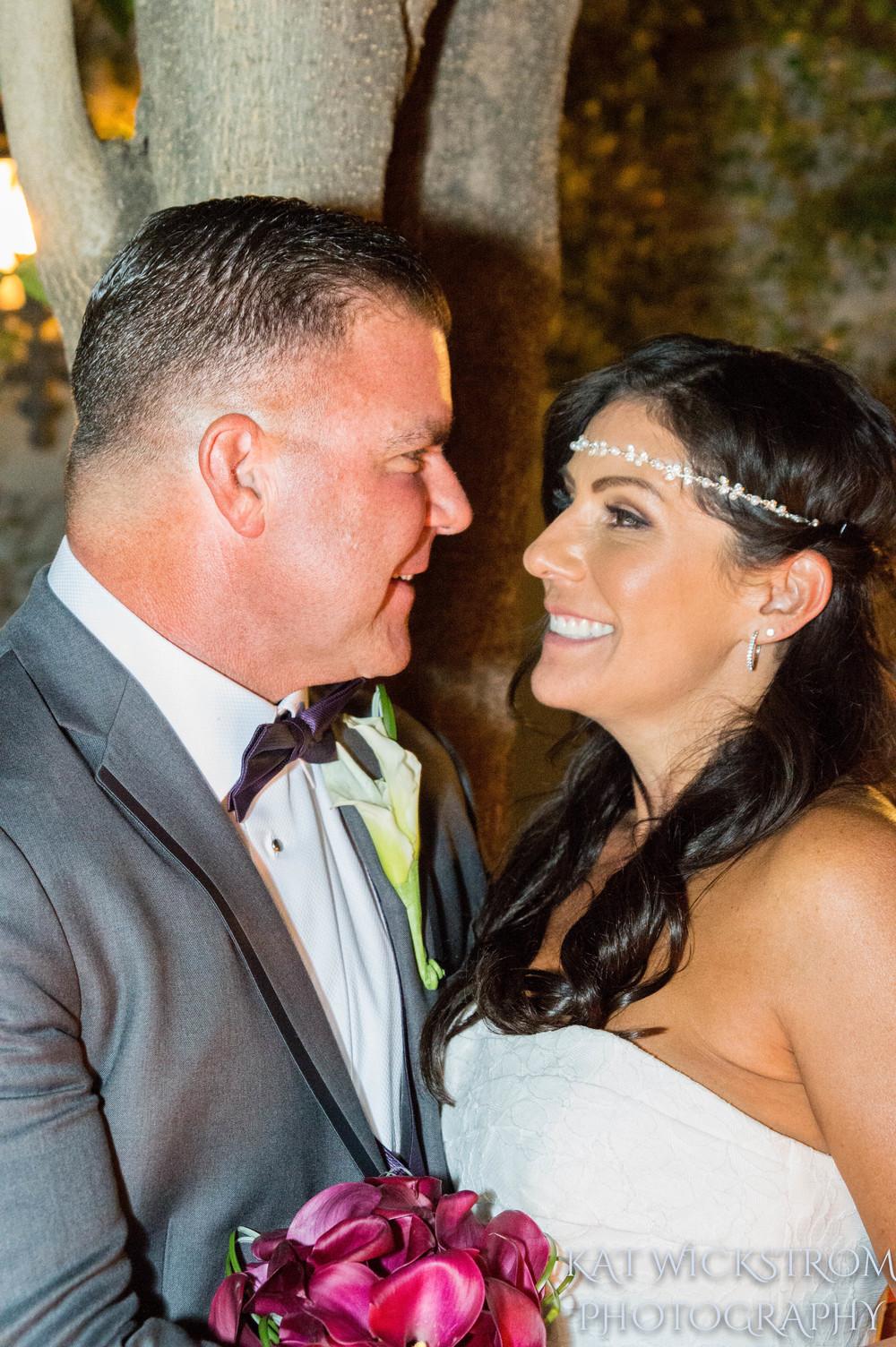 Woodland Hills CA Villa Restaurant Ceremony Bride and Groom
