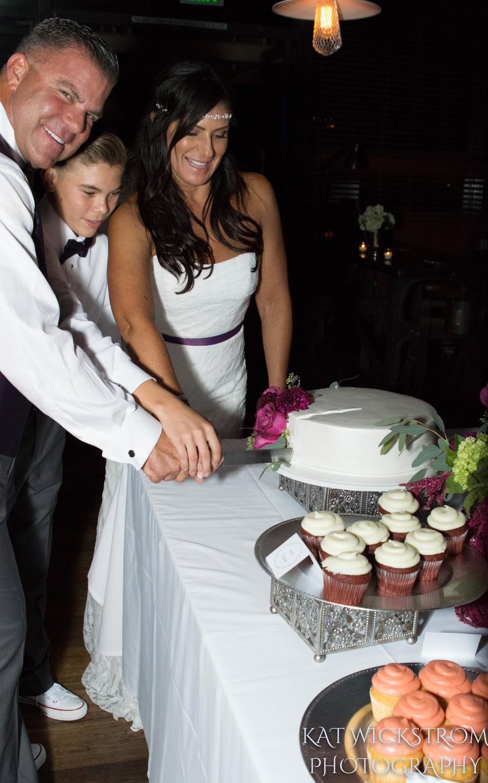 Woodland Hills Cafe Fiore Wedding Reception Cake Cutting