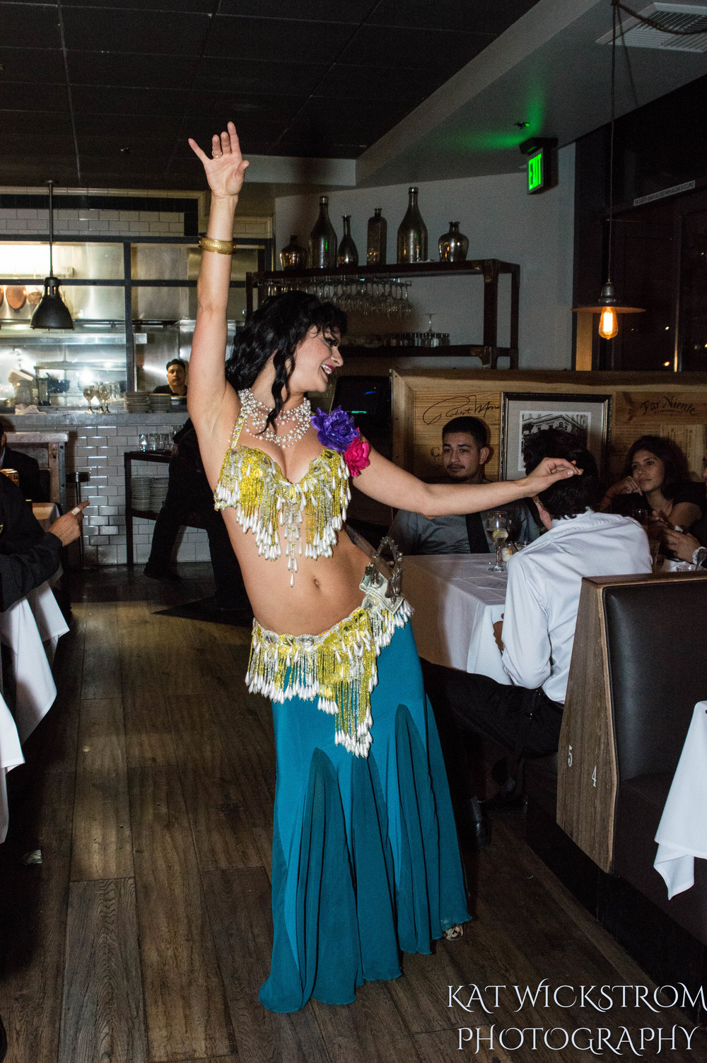 Woodland Hills Cafe Fiore Wedding Reception Belly Dancer