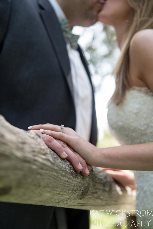 Rustic Solstice Canyon Malibu CA Wedding Ring Photo
