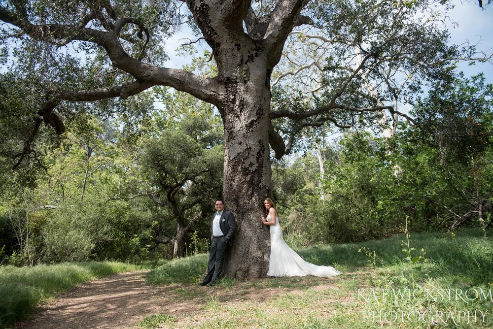 Rustic Solstice Canyon Malibu CA Wedding Natural Tree Photo