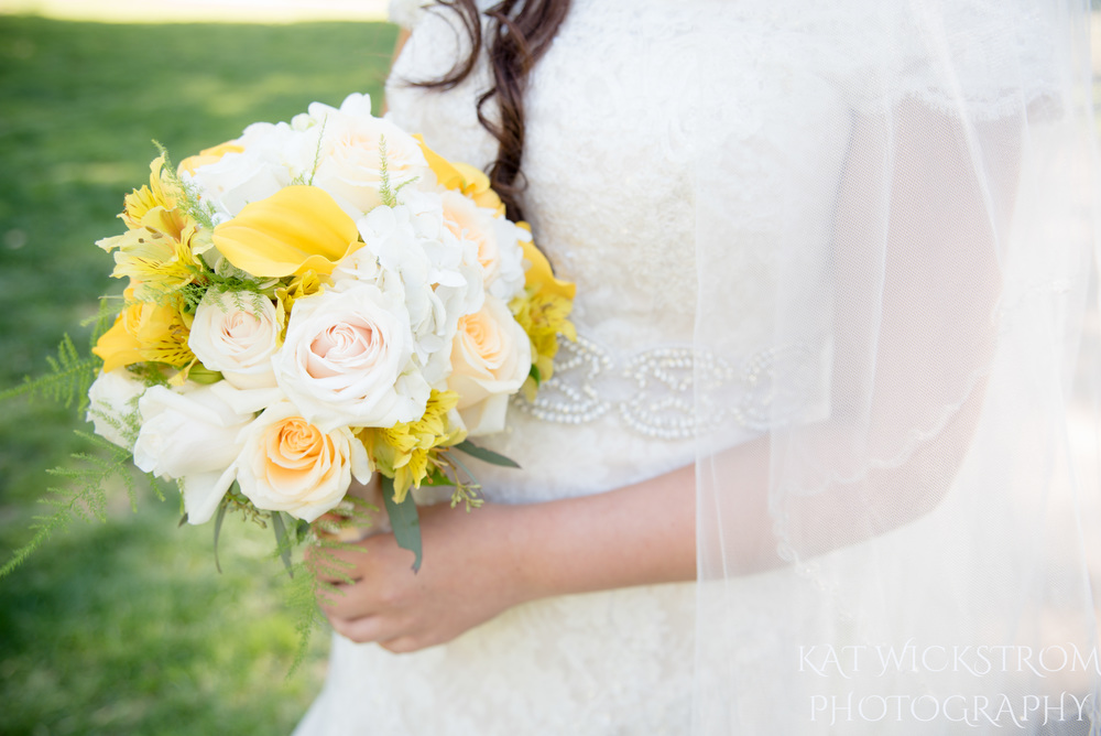 UCI Wedding Yellow Flower Bouquet