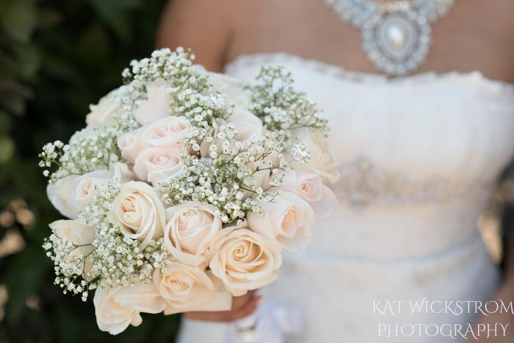 pale pink wedding bouquet