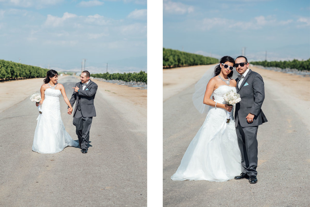 fun bride and groom photo