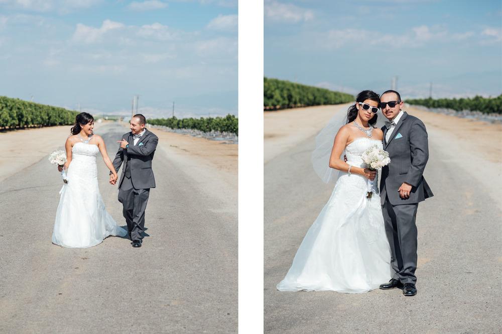 fun bride and groom photo